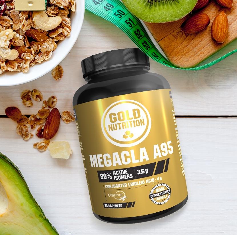 GoldNutrition | Mega CLA A95 | | Eficaz na Perda de Gordura Corporal | 90 cápsulas | 4 por dia